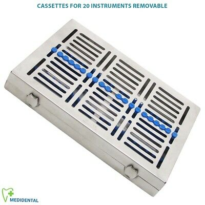 Removable Sterilization Cassettes for 20 Instruments Rack Tray hold Autoclave CE