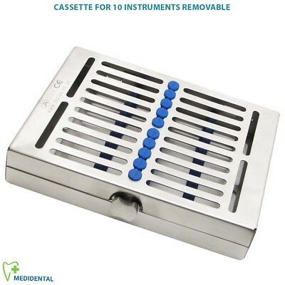 Sterilization Cassettes for 10 Instruments Autolavable Removable Dentistry Tools