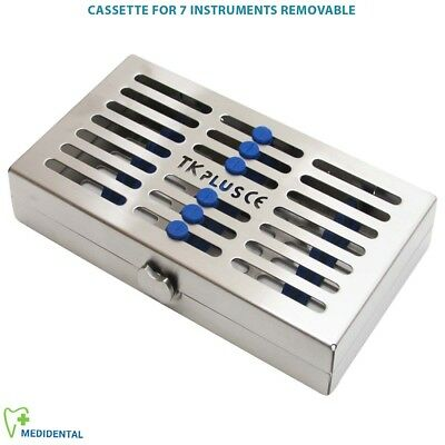 Sterilization Cassettes for 7 Instruments Removable Autolavable Rack Tray Holder