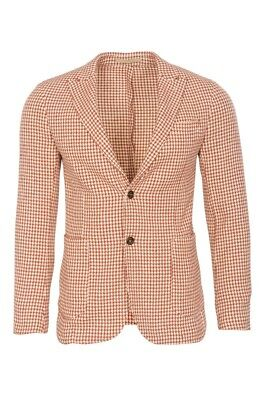 Eleventy Blazer Men's 50 US Size 40 Sienna Slim Fit Houndstooth Cotton