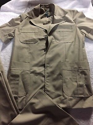 Mens Vintage 1970's Safari Suit 38R South Pacific Exclusive to John Saunders