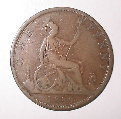 EXTREMELY SCARCE    1889 Gouby-B     NARROWER DATE PENNY
