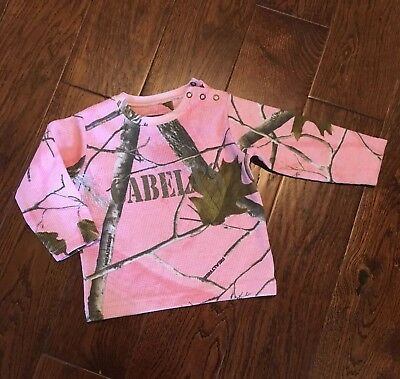 Cabela's For Kids Thermal Camo Pink Tee Size 12 Months NWT