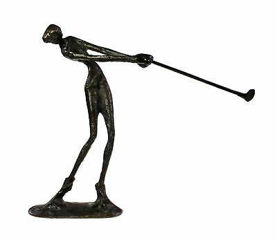 Cast Bronze Female Lady Golfer Athlete Art Sculpture