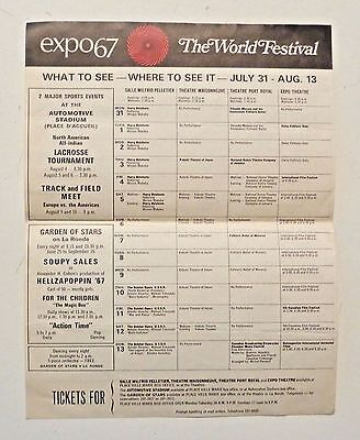 EXPO 67 Leaflet Montreal 1967 WORLD'S FAIR The World Festival - What to See