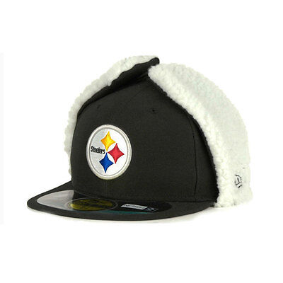 Pittsburgh Steelers Officially licenced NFL 59FIFTY Dog Ear Fitted Cap