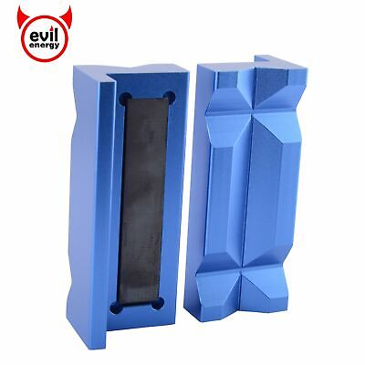 Magnetic Vice Jaw Protective Inserts Aluminium Blue for Various AN Fitting