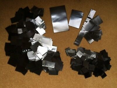 Approx 150g of used Hawid Mounts Black in various sizes and widths