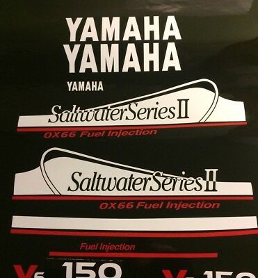 Yamaha 250 OX66 Saltwater Series II decal kit  THIS SET white and red  free ship