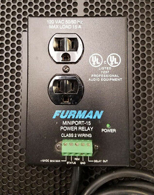 Furman Mp-15 Miniport-15 15 Amp 2 Outlet Power Relay Accessory