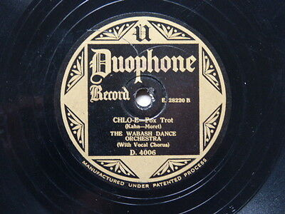Wabash Dance Orchestra: Chloe/Harry Paul: If you don't love me (Duophone 4006)