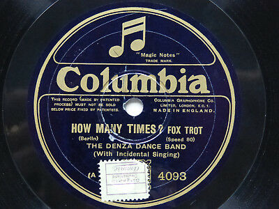 The Denza Dance Band: How many times?/Cherrie, I love you so (Columbia 4093)
