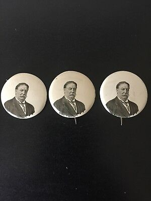 1908 William Howard Taft Political Campaign Pin 1972 Reproduction Lot 3