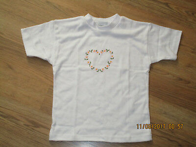 Nwot : Biobottoms, Toddler Girl's Cotton White Short Sleeve Tee [Size 4T]