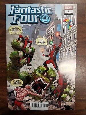 Fantastic Four #1 (Marvel 2018) Comic Con Africa Will Sliney variant 1st PRINT!