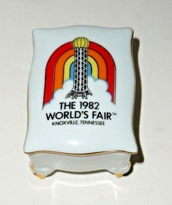 1982 Vintage World's Fair, Knoxville Tennessee Sunsphere Trinket Box Gold Trim