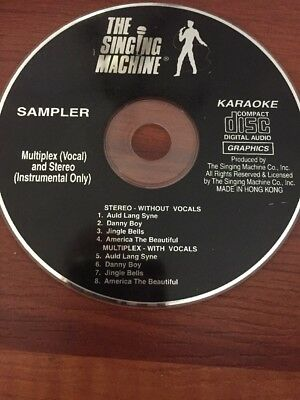 The Singing Machine Sampler Karaoke Music Graphics Cd Danny Boy