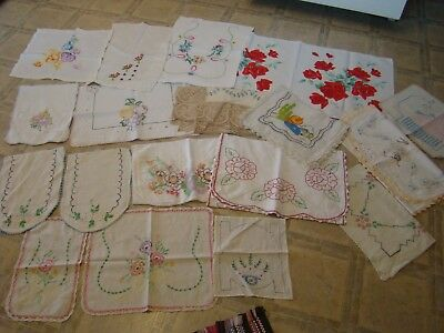 17*vtg. Dresser Scarves*great Variety- One Red Roses(Wilendur?) Large And Small