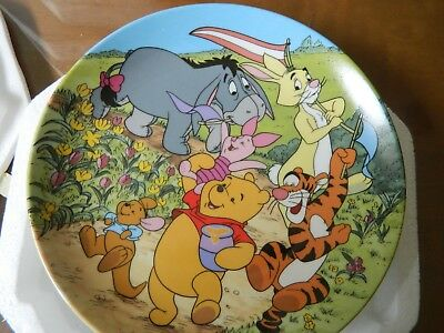 Bradford Winnie the Pooh Time for a Little Celebration 100 Acre Woods Plate