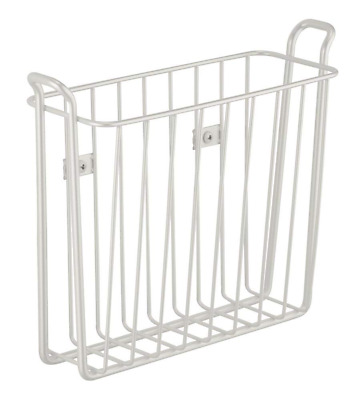 Classico Wall Mount Newspaper And Magazine Rack For Bathroom - Pearl White
