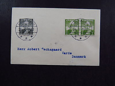 Small Cover Greenland Gr¢nland Frederikshaab Varde 1940 Pair of Stamps
