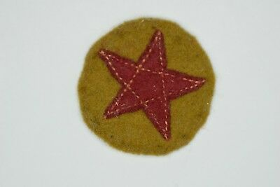 ORIGINAL JAPANESE WWII Star UNIFORM PATCH, EXTREMELY RARE! Exceptional Condition