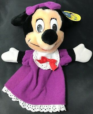 Disney On Ice Minnie Mouse Plush Hand Puppet Vintage With Tags Original