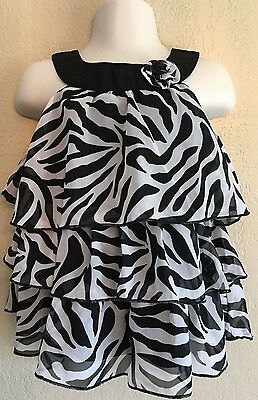 Baby Shirt Zebra Ruffle Cute Top 24 Mo Toddler Baby Kid's Children's Child's
