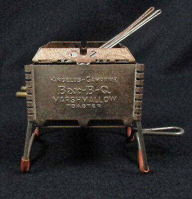 Antique Vintage 1930s Promotional Angelus-Campfire Bar-B-Q Marshmallow Toaster