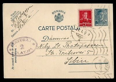 Dr Who 1942 Romania Postal Card Uprated Stationery C38983