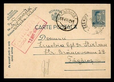 Dr Who 1940 Romania Postal Card Stationery C38984