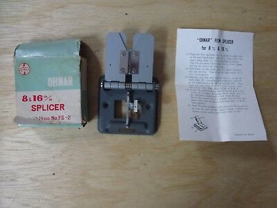 Rare and vintage OHNAR 8 & 16m/m  FS-2 Splicer with box and fragile instructions