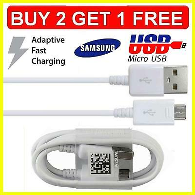 1M 2M  Genuine Samsung Galaxy S5 S6 S7 Note 5/4 Fast Charger USB Data Cable Lead