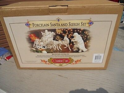Grandeur Noel Collectors Edition Porcelain Santa Sleigh REPLACEMENT SANTA ONLY