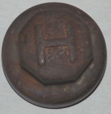 Vintage  H Hupmobile Threaded Center Dust Grease Cap Cover Hubcap 1920's Antique