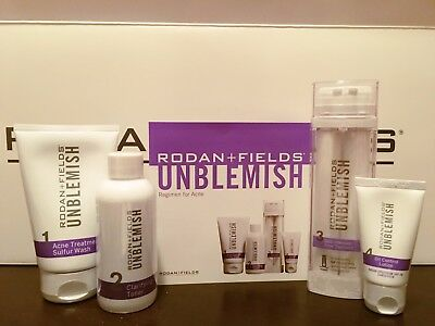 Rodan + Fields Unblemish Regimen for Acne and Post-Acne Marks Kit with Spot...