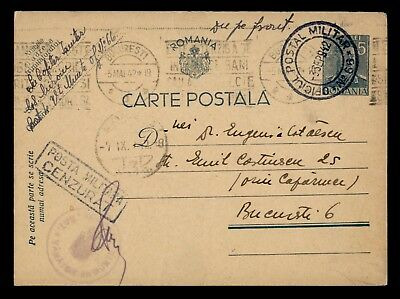 Dr Who 1942 Romania Postal Card Censored Stationery C39100