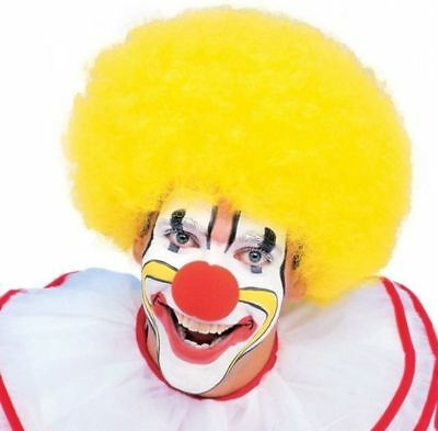 Yellow Clown Wig Quality Jester Party Costume Accessory Men Women's Afro Curly