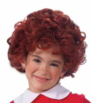 Little Orphan Annie Child Girl Wig Licenced Costume Accessory Red Curls Curly