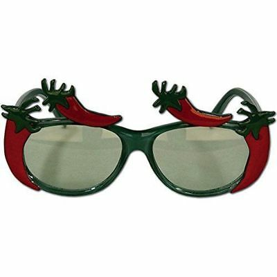 1 Pair Festive Fiesta Party Red Green Chili Peppers Fanci-Frames Glasses Novelty