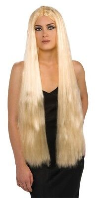 """Womens Long Straight Blonde Hair Wig Cosplay Halloween Costume Accessory 36"""" New"""