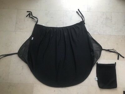 PROTECT-A-BUB Black Sun Shade for Baby Stroller With Small Carry Bag