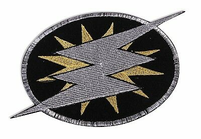 Super Hero Icon Embroidered Patch Badge Lightening Bolt Adult Costume Accessory