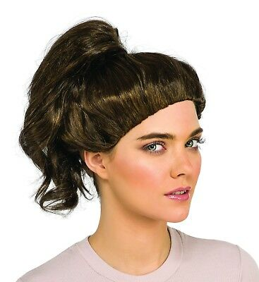 Ghostbusters Abby Wig Dark Brown Ponytail Yates Adult Women Costume Accessory