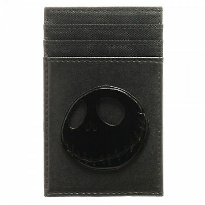 Nightmare Before Christmas Front Pocket Wallet Black Faux PU Leather Jack