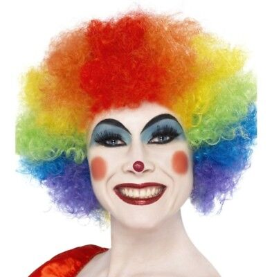 Rainbow Clown Wig Quality Jester Party Costume Accessory Men Women's Afro Curly