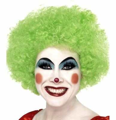 Green Clown Wig Quality Jester Party Costume Accessory Men Women's Afro Curly