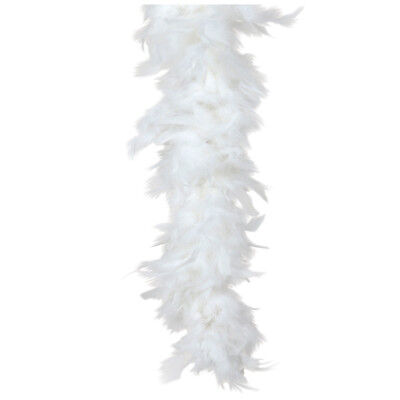 """Snow White Turkey Feather Boa 55GM 6 ft 72"""" Christmas Angel Costume Accessory"""