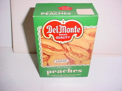 vintage Del Monte dried PEACHES collectible advertising BOX unopened