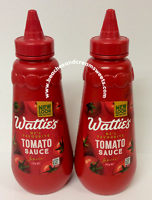 TWO BOTTLES of Watties Tomato Sauce Ketchup 560g New Zealand Import